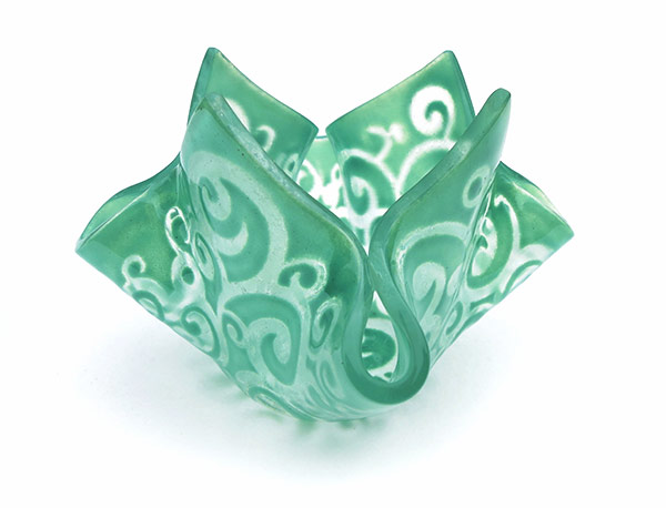 Candleholder-Large-Enamelled--made-from-recycled-window-glass-Assorted-colours-and-design