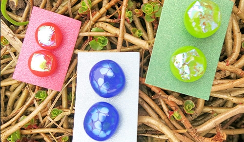 Jewellery-Assoted-dichroic-studs